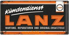 LANZ Kundendienst Metalen wandbord in reliëf 25 x 50 cm