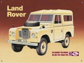 Land Rover  Metalen wandbord 30 x 41 cm.