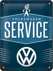 VW Servise Metalen wandbord in reliëf 30x40 cm