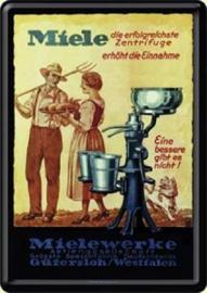 Mielewerke.  Metalen  Postcard 10 x 14 cm.