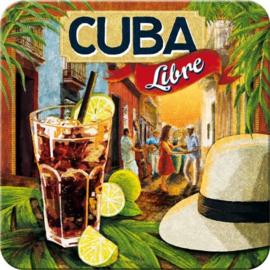 Cuba Libre Onderzetters 9 x 9 cm.  5 stuks.