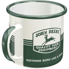 John Deere Farm Emaille Drinkbeker