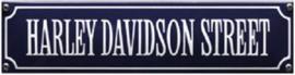 Harley Davidson Street Emaille bordje.