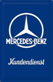 Mercedes-Benz Kundendienst Metalen wandbord in reliëf15 x 20 cm.