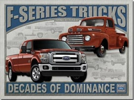 FORD - F-Series Trucks Metalen wandbord 40,5 x 31,5 cm.