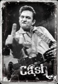 Johnny Cash Finger Metalen Postcard 10 x 14 cm.