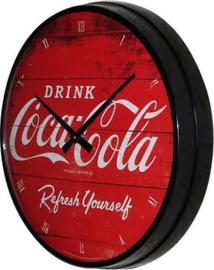 Coca Cola Refresh Yourself  Wandklok 31 cm