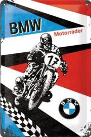 BMW  Motorräder Metalen wandbord in reliëf 20 x 30 cm