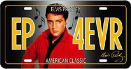 Elvis Presley EP4EVR Metalen wandbord   in reliëf 15 x 30 cm.