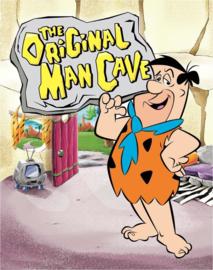 Flintstones - Man Cave. Metalen wandbord 31,5 x 40,5 cm.