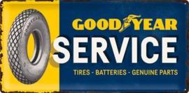 Goodyear Service Metalen wandbord in reliëf 25 x 50 cm