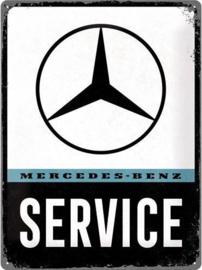 Mercedes-Benz Service Metalen wandbord in reliëf 30 x 40 cm .