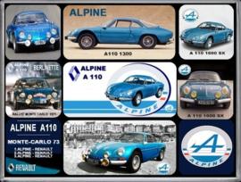 Renault Alpine A 110 Magneet set.