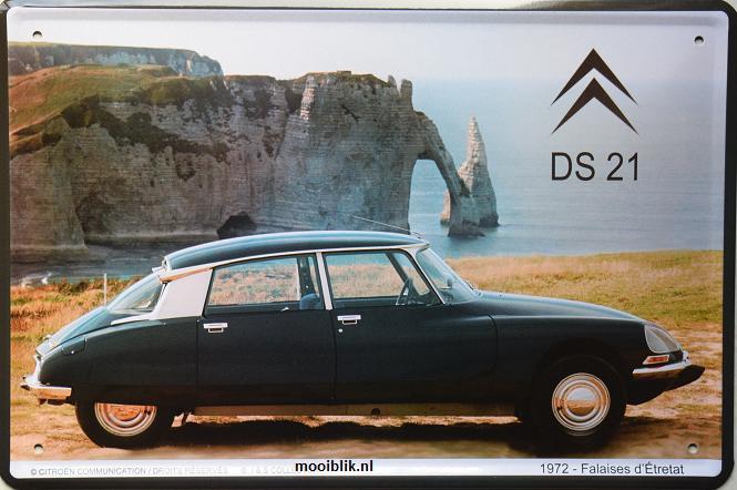 Citroen DS 21  1972 Metalen wandbord 20 x 30 cm