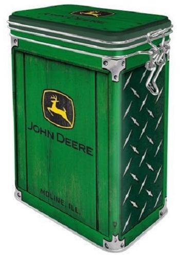 John Deere Diamond Bewaarblik met clipsluiting.