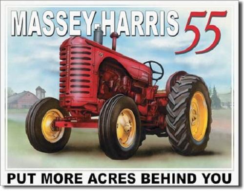 Massey-Harris 55  Metalen wandbord 31,5 x 40,5 cm.