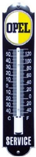 Opel Thermometer 6,5 x 30 cm.