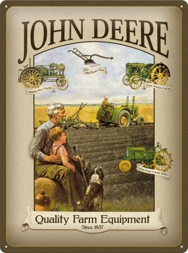 John Deere Quality Farm Equipment Metalen wandbord in reliëf 40 x 30 cm