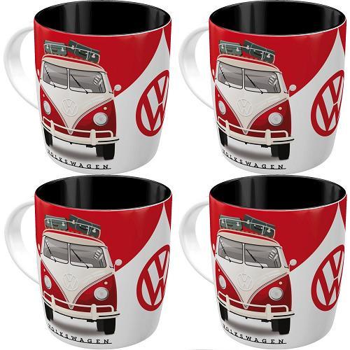 4 VW Good in Shape Koffiemokken.
