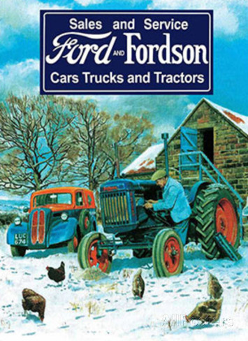 Ford and Fordson Sales and Service Metalen wandbord 30x40 cm