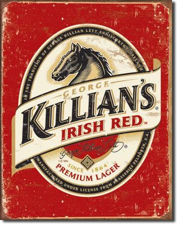 Killian's Beer Logo .  Metalen wandbord 40,5 x 31,5 cm.