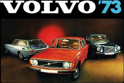 Volvo 73 .  Metalen wandbord 20 x 30 cm.
