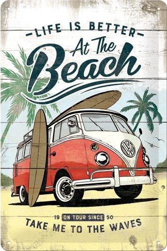 VW Bulli At The Beach.