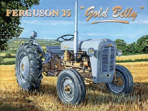 Ferguson 35 Gold Belly Metalen wandbord 30 x 40 cm