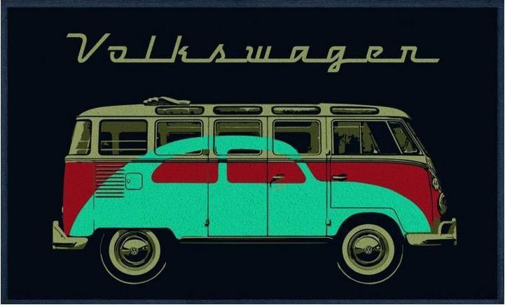 VW Samba & Beetle   Deurmat 50 X 75 cm