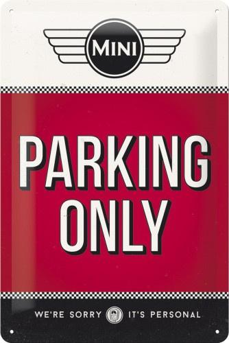 Mini Parking Only Metalen wandbord in reliëf 20 x 30 cm