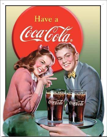 Have a Coca Cola  Metalen wandbord 31,5 x 40,5 cm.