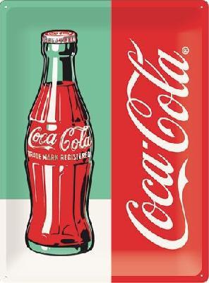 Coca-Cola Bottle Limited  Metalen wandbord in reliëf 30 x 40 cm.