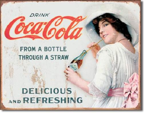 Drink Coca Cola  Metalen wandbord 31,5 x 40,5 cm.