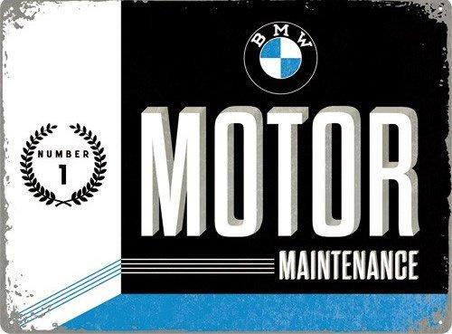 BMW Motor Maintenance Number 1 Metalen wandbord in reliëf 30 x 40 cm