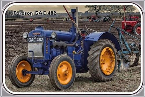 Fordson GAC 482.  Metalen wandbord 20 x 30.