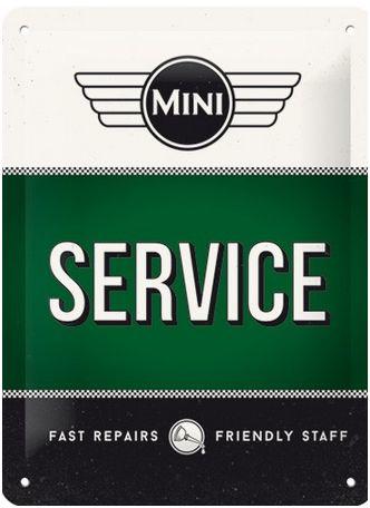Mini Service Metalen wandbordin reliëf15 x 20 cm