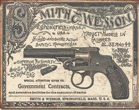 Smith & Wesson Metalen wandbord 31,5 x 40,5 cm.
