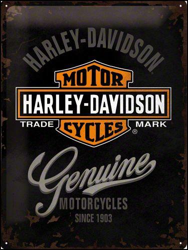 Harley Davidson Genuine Metalen wandbord 15x20 cm