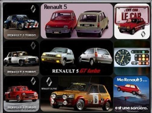 Renault 5 GT Turbo Magneet set.
