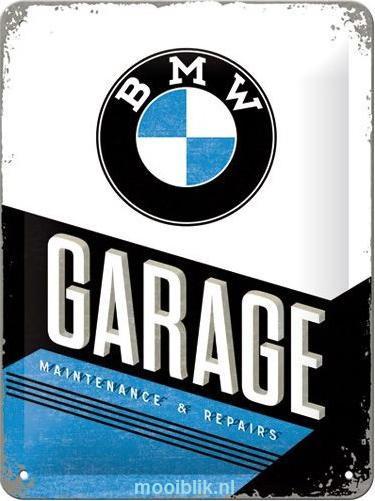 BMW Garage Metalen wandbordin reliëf15x20 cm