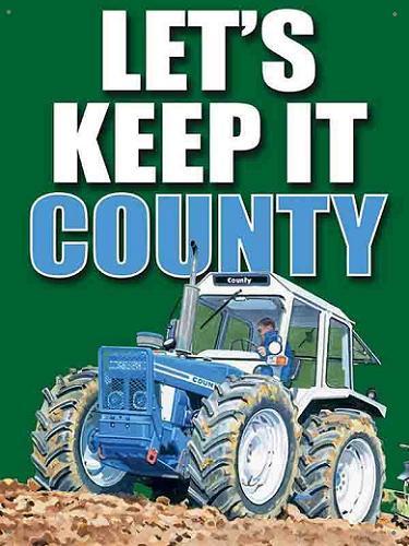 Let's Keep it County Metalen wandbord 40 x 30 cm.