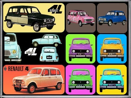 Renault 4L Magneet set.
