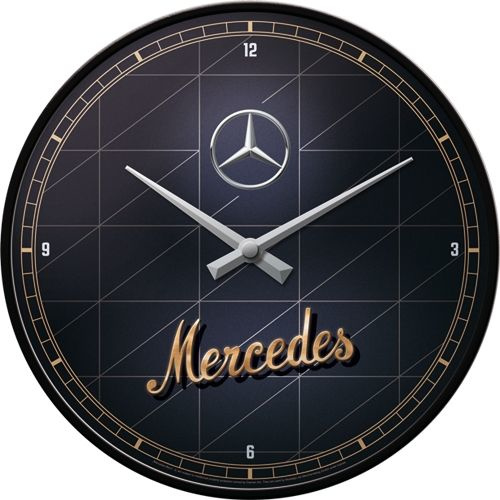 Mercedes-Benz - Silver & Gold. Wandklok Ø 31 cm.
