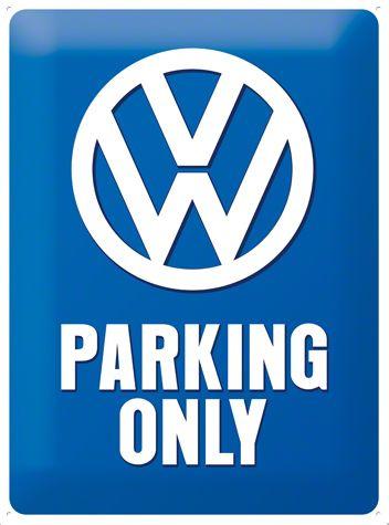 VW Parking Only Metalen wandbordin reliëf15x20 cm