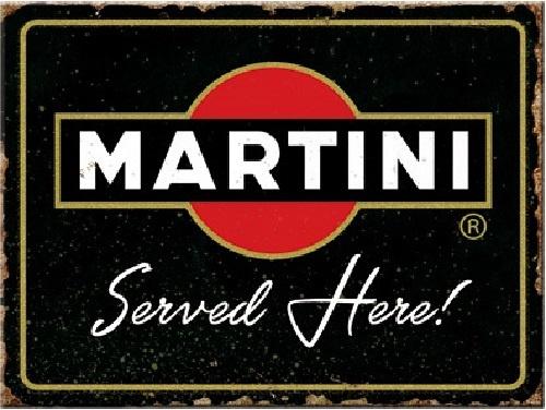 Martini  Served Here. Koelkastmagneet 8 cm x 6 cm.