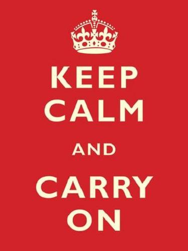Keep Calm & Carry On Metalen wandbord 30 x 40 cm.