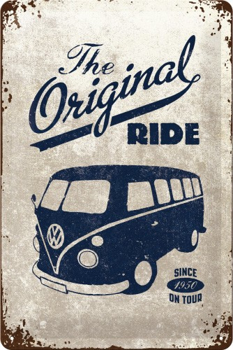The Original Ride - Bulli Metalen wandbord in reliëf 20 x 30 cm
