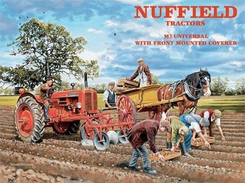 Nuffield Tractors Metalen wandbord 30x40 cm