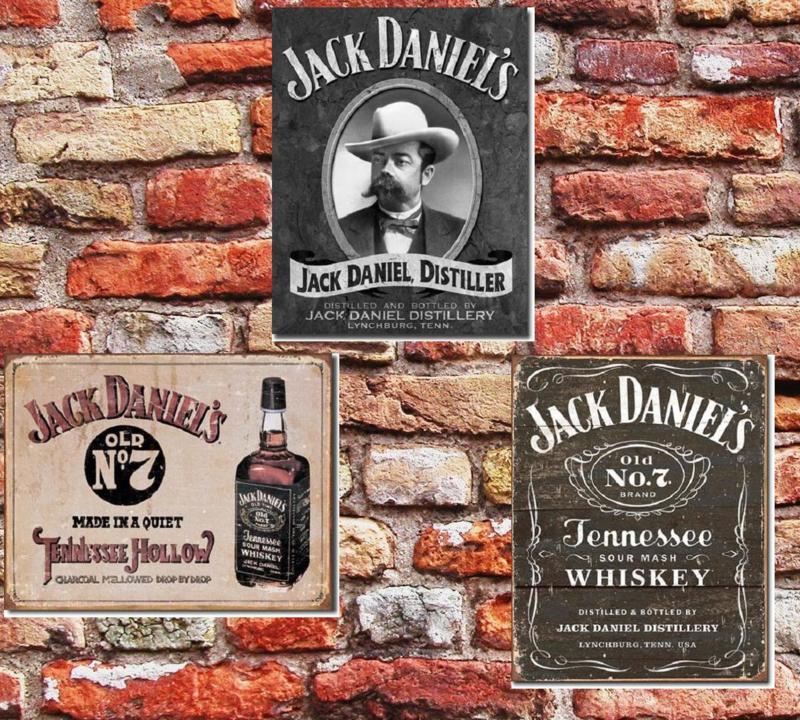 Jack Daniel's  3  Metalen wandborden 31,5 x 40,5 cm