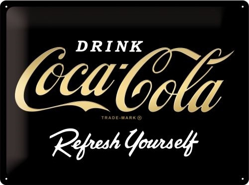 Coca Cola Refresh Yourself  Black Logo Special Edition